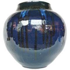 Thom Lussier Midnight Blue Ceramic Vessel