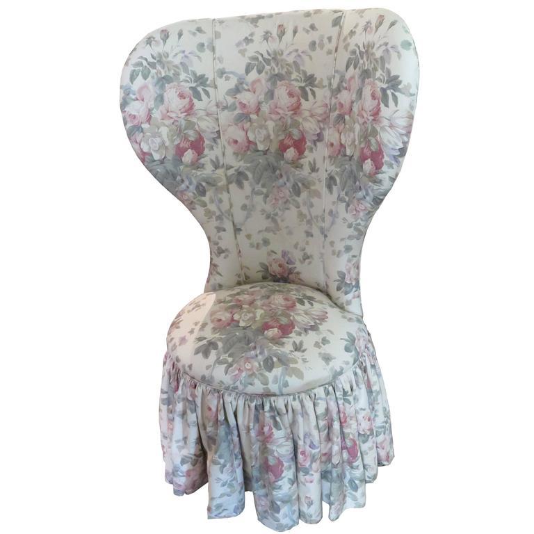Bennison Floral Fan Back Chair
