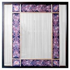 Mid-Century Modern Mirror Decorative Big Panel by Paolo De Poli Designer