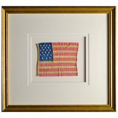 Antique 21 Star Flag Hand Sewn, Handmade, circa 1818