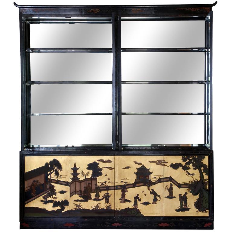 Chinese Coromandel Display Cabinet 1