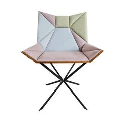 Yvy Chair in Suede and Peroba Do Campo Wood by Nicolò Friedman for Aucap, Brazil
