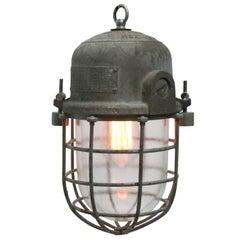Vintage Industrial Cage lamp Podoli L IV