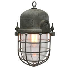 Vintage Industrial Cage lamp Podoli L IV (2x)
