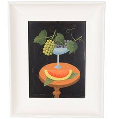 Still Life with Watermelon by Andre Schwob, American, 1930s