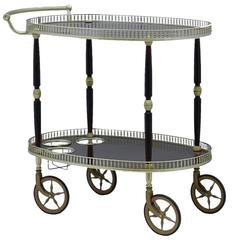 Mid-Century Bar Cart Drinks Trolley Cocktail Table French
