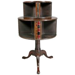 George III Style Mahogany Revolving Bookstand
