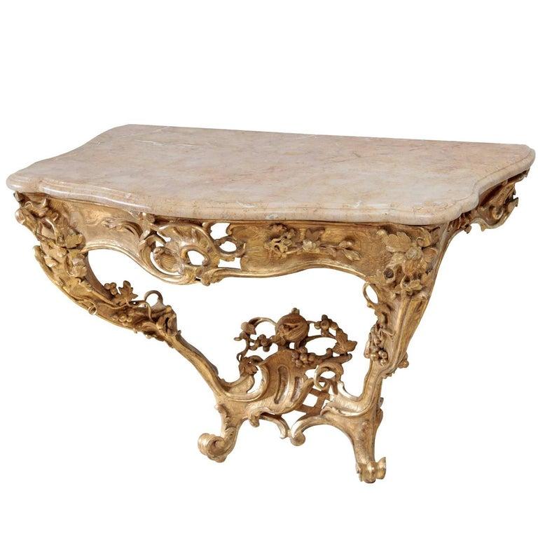 Rococo Console Table, 18th Century For Sale