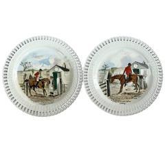 19th Century Minton Sporting Hunting Equestrian Plates