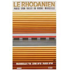 1970s French Rail SNCF Travel Poster Minimal Design