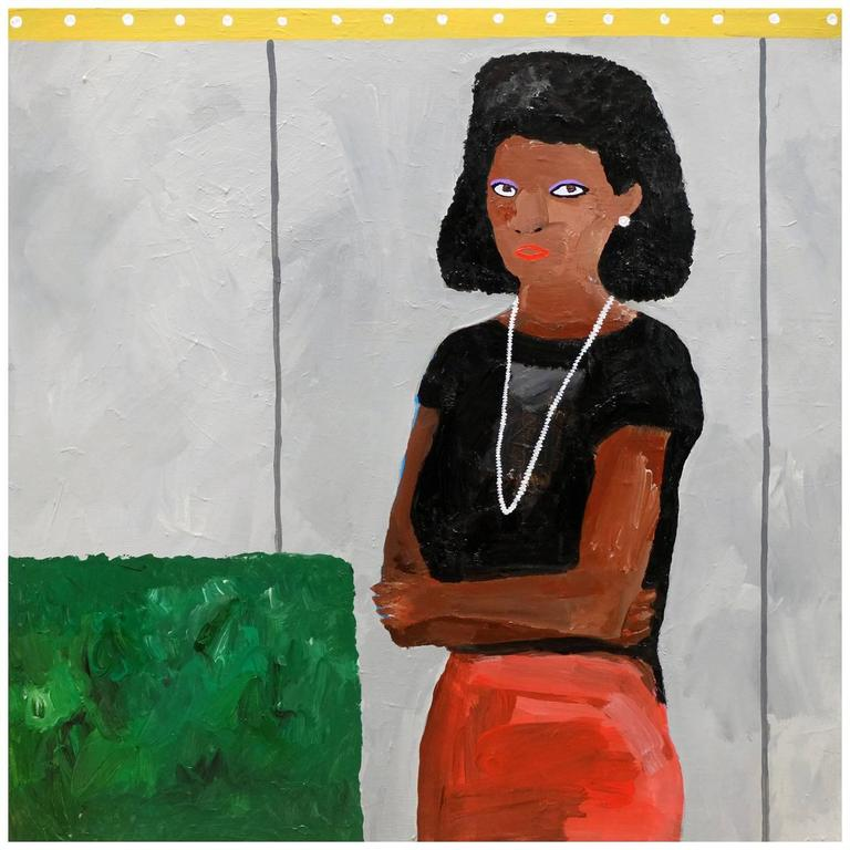'Salon Fresh' Portrait Painting by Alan Fears