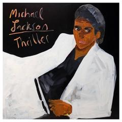 'Michael Jackson Thriller' Portrait Painting by Alan Fears, 1980s
