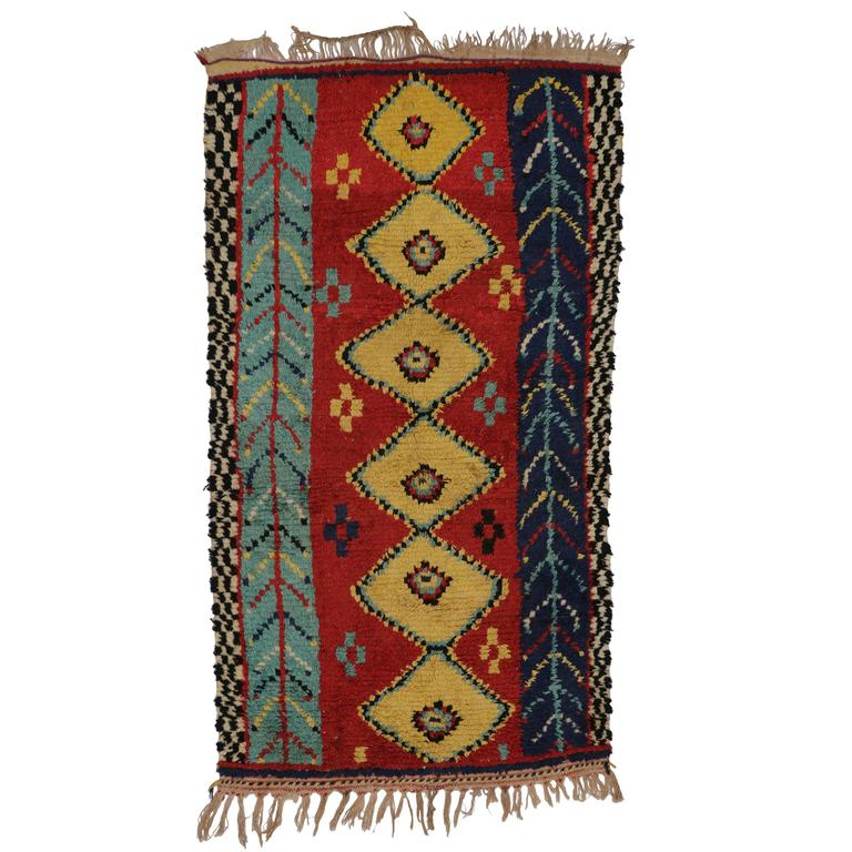 Maroc Tribal Rug: Vintage Berber Moroccan Rug With Modern Tribal Style For