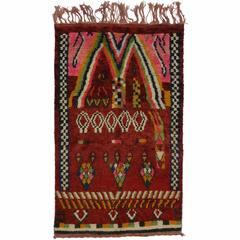 Boho Chic Berber Moroccan Rug with Contemporary Abstract Style