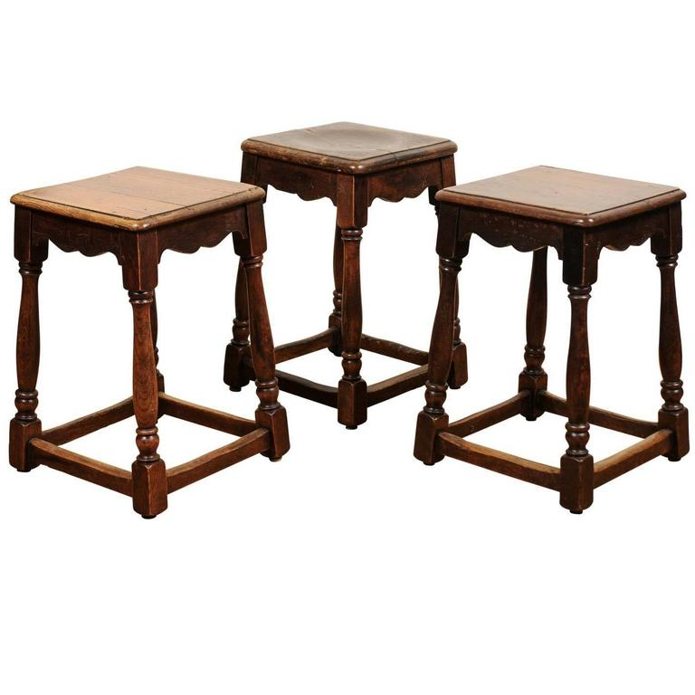 Three English Stools Circa 1900 For Sale At 1stdibs