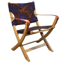 Campaign Chair by Sunbeam Jackie Garden Chair, Vintage Retro Antique Fabric