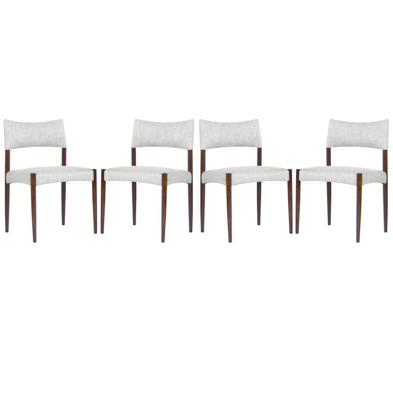 Set of Four Rosewood Side Chairs by Aksel Bender Madsen, Denmark, 1960s