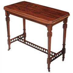 Superb Quality Freestanding Rosewood Card Table