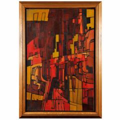 Large Painting, 1951, by P.C. Lagage French