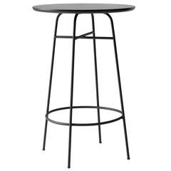 Bar Table by Afteroom, Powder-Coated Steel Frame, Durable Black Laminated Top