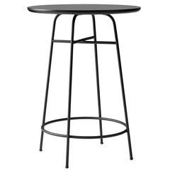 Counter Table by Afteroom, Powder-Coated Steel Frame. Durable Black Laminate Top