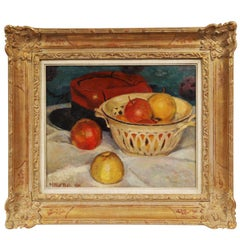 Henry Niestle Oil on Canvas Titled Still Life with Apple
