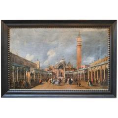 19th Century Italian Cityscape Oil