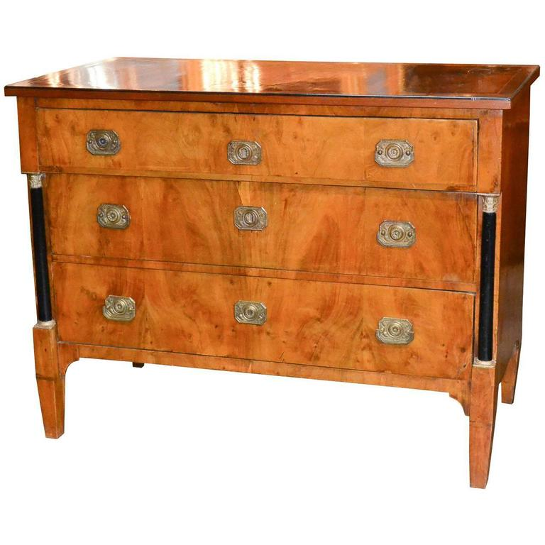 19th Century Continental Walnut Commode