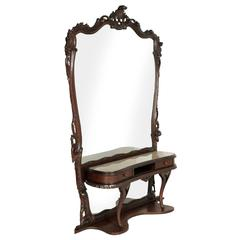 Venice Baroque Belle Epoque Lady Console Vanity with Mirror by Vincenzo Cadorin