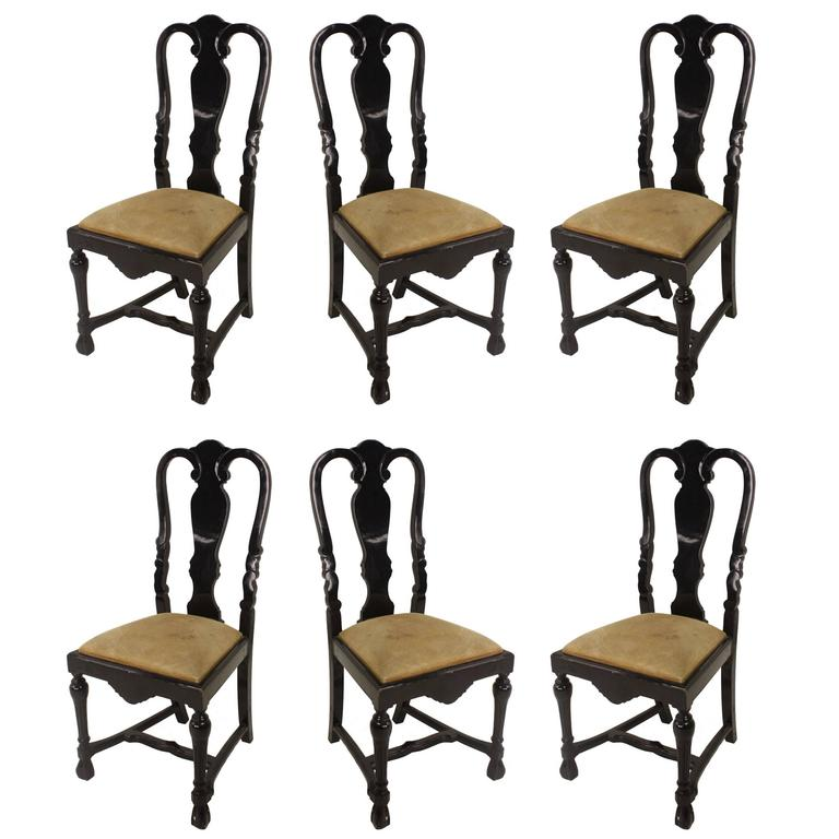 Six Stunning Small Antique Dutch Dining Chairs For Sale - Six Stunning Small Antique Dutch Dining Chairs For Sale At 1stdibs