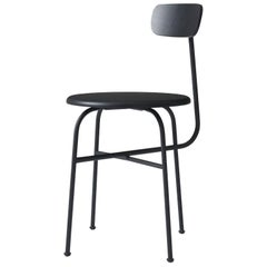 Dining Chair by Afteroom, Black Steel Frame, with Painted Wood Seats