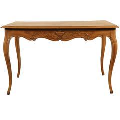 Vintage Italian Carved Walnut Writing Table