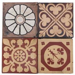 Antique Maw & Co Encaustic Tiles