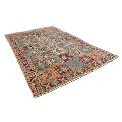 Hand-Knotted Turkish Bakhtiari Area Rug