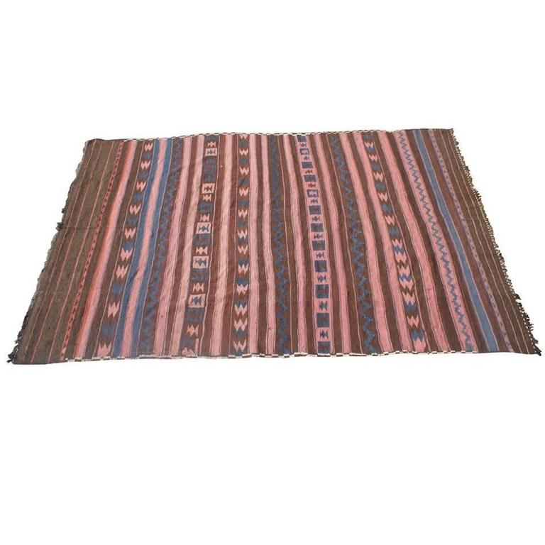"81"" x 126""  Kilim Turkish Area Rug For Sale"