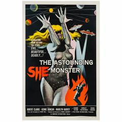The Astounding She Monster American Film Poster, Albert Kallis, 1958