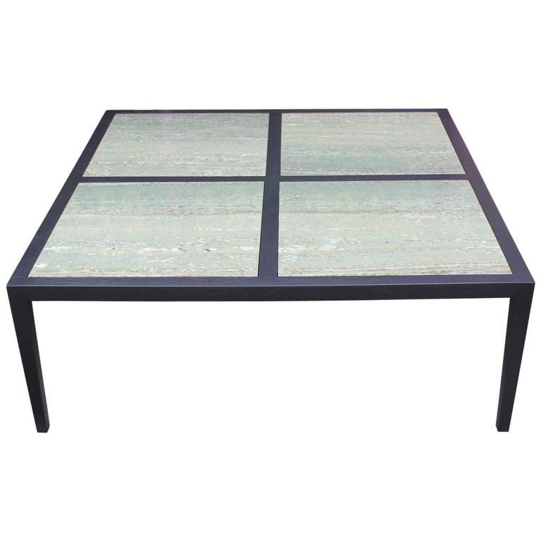 Large Coffee Table Contemporary: Modern Custom-Made Large Square Coffee Table With Emerald
