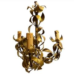 Gold Gilt Metal Chandelier, France, 19th Century