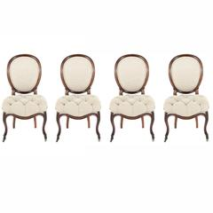 Four Antique Rosewood Dining Chairs, circa 1880
