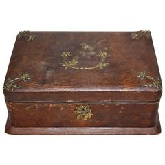 Early 20th Century Leather Jewellery Box