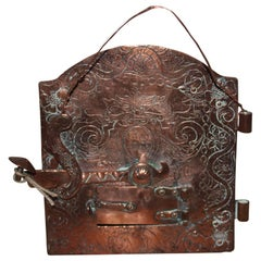 18th Century Rococo Copper Fireplace Door