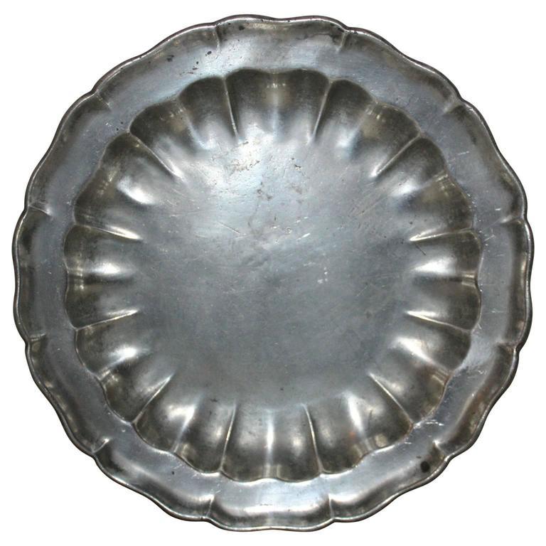 18th Century Swedish Pewter Dish