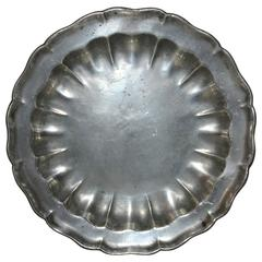 18th Century Swedish Pewter Dish