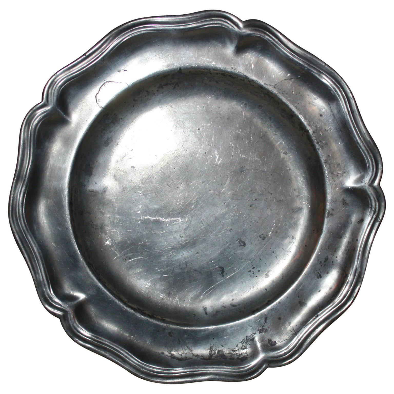19th Century Norwegian Pewter Plate