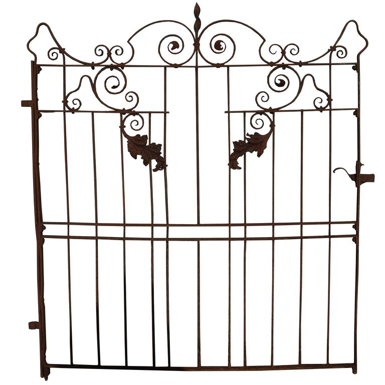 19th Century Wrought Iron Pedestrian Gate For Sale