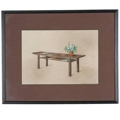 Rendering of a Coffee Table by Dominique, 1940s