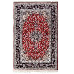 Vintage Isfahan Persian Rug