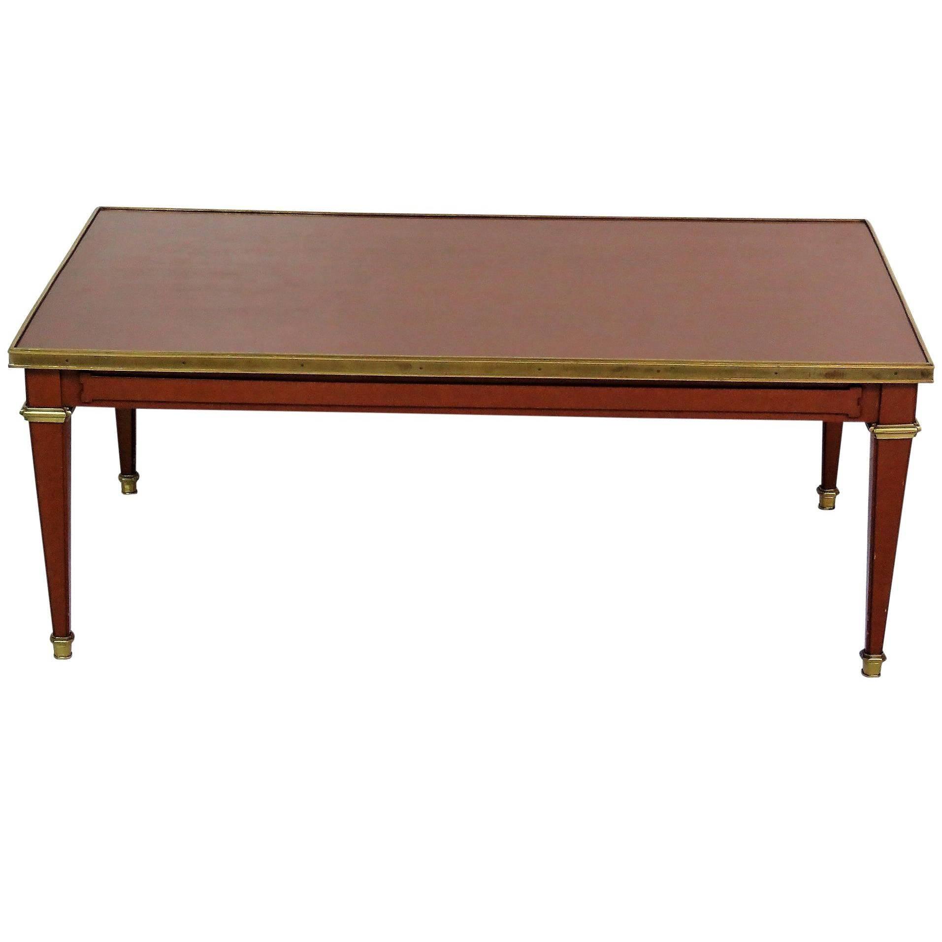 Maison Jansen Style Directoire Style Brass Coffee Table