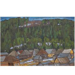 'Ural Motif' Original Oil Painting by Russian Kim Britov