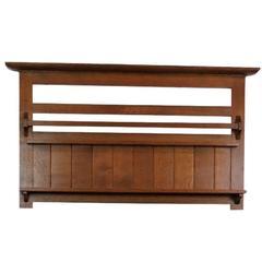 Stickley Oak Slatted Wall Shelf